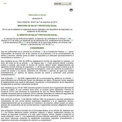 Derecho del Bienestar Familiar [RESOLUCION_MINSALUDPS_4113_2012]