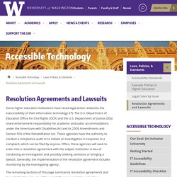 Resolution Agreements and Lawsuits