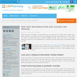 New year, new resolution: quit alcohol and smoking