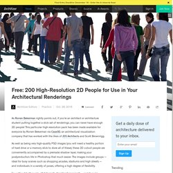 Free: 200 High-Resolution 2D People for Use in Your Architectural Renderings