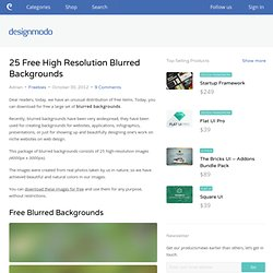 25 Free High Resolution Blurred Backgrounds