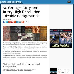 30 Grunge, Dirty and Rusty High Resolution Tileable Backgrounds