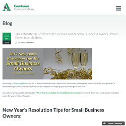 New Year's Resolution for Small Business Owners