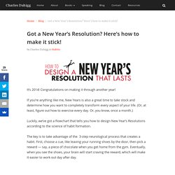 Got a New Year's Resolution? Here's how to make it stick! - Charles Duhigg