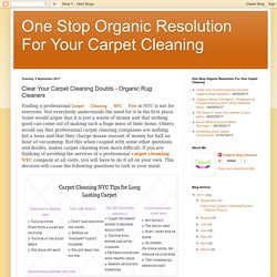 Professional Carpet Cleaning NYC - Organic Rug Cleaners