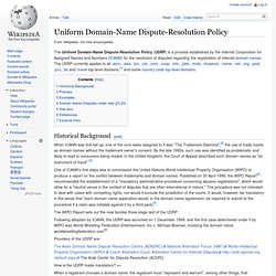 Uniform Domain-Name Dispute-Resolution Policy