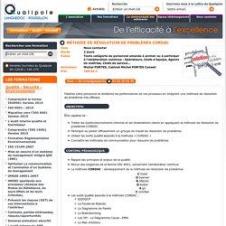 Méthode de résolution de problèmes CORDAC : Qualité - Sécurité - Environnement - Qualipole Languedoc-Roussillon