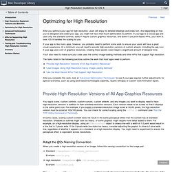 High Resolution Guidelines for OS X: Optimizing for High Resolution