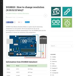 DS18B20 : How to change resolution (9/10/11/12 bits)?
