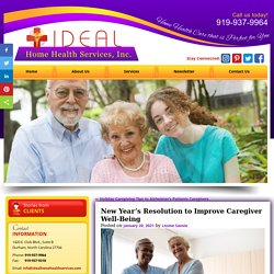 New Year's Resolution to Improve Caregiver Well-Being