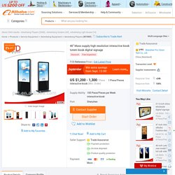 """46"""" Mass Supply High Resolution Interactive Kiosk Totem Kiosk Digital Signage - Buy Totem Kiosk Digital Signage,Portable Digital Signage,Standalone Digital Signage Product on Alibaba.com"""