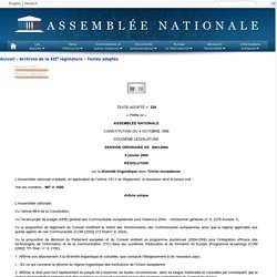 Texte adopté n°229 - Résolution sur la diversité linguistique dans l'Union européenne (documents E-2275-1, E-2024 et E-2182)