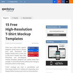 15 Free High-Resolution T-Shirt Mockup Templates