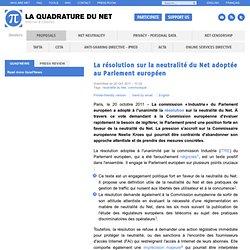La résolution sur la neutralité du Net adoptée au Parlement européen