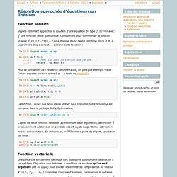 Résolution approchée d'équations non linéaires — Page personnelle de Dimitri Bonnet
