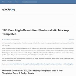 100 Free High Resolution Photorealistic Mockups