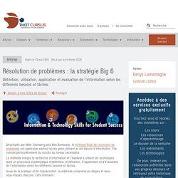 Résolution de problèmes : la stratégie Big 6 - Thot Cursus