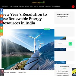 New Year's Resolution to use Renewable Energy Resources in India