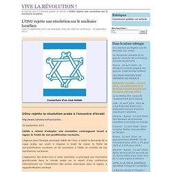 ONUrejette Résolution nucléaire Israelien