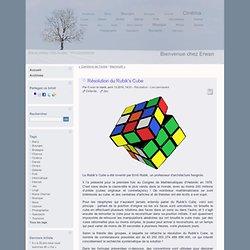 Résolution du Rubik's Cube - Bienvenue chez Erwan