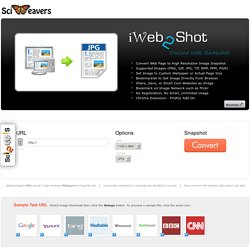 iWeb2Shot - Free Online Web Page to High Resolution Image Snapshot