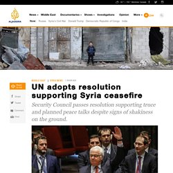 UN adopts resolution supporting Syria ceasefire