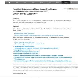 iPhone, iPad, iPodtouch: dépannage des problèmes de synchronisation des contacts et des calendriers via USB sous Windows