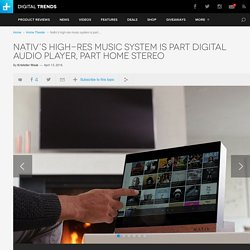 Nativ High-Resolution Music System Now On Indiegogo