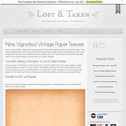 Nine Vignetted Vintage PaperTextures