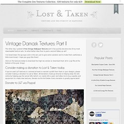 Vintage Damask Textures: Part II