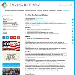 Conflict Resolution and Peace