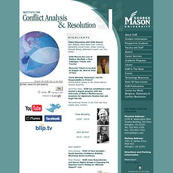 Institute for Conflict Analysis and Resolution - George Mason University