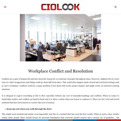 Workplace Conflict and Resolution