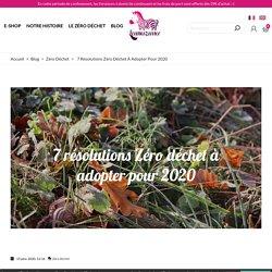 7 résolutions Zéro déchet à adopter pour 2020 - Lamazuna