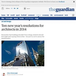 Ten new year's resolutions for architects in 2014
