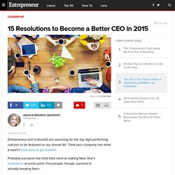 15 Resolutions to Become a Better CEO in 2015