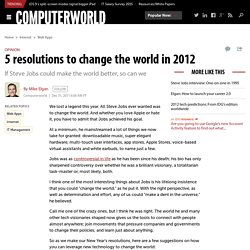5 resolutions to change the world in 2012