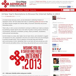 10 New Year's Resolutions to Browse the Internet Safely in 2013