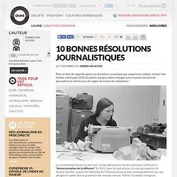 10 bonnes résolutions journalistiques
