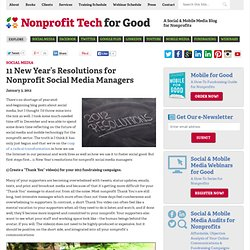 11 New Year's Resolutions for Nonprofit Social Media Managers