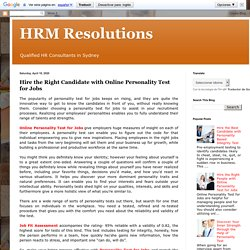 Hire the Right Candidate with Online Personality Test for Jobs