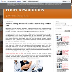 Improve Hiring Process with Online Personality Test for Jobs