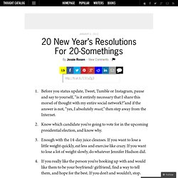 20 New Year's Resolutions For 20-Somethings
