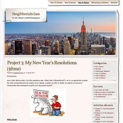Project 3: My New Year's Resolutions (5ème)