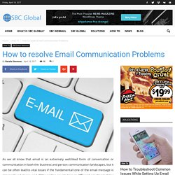 How to resolve Email Communication Problems