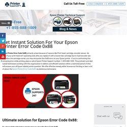 How to Resolve Epson Error Code 0x88? +1-888-921-0165