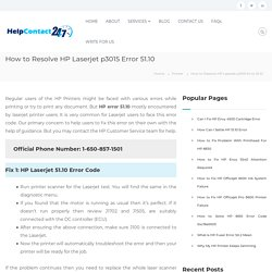 How to Resolve HP Laserjet Printer p3015 Error 51.10 [2020]