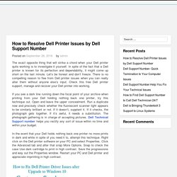 How to Resolve Dell Printer Issues by Dell Support Number