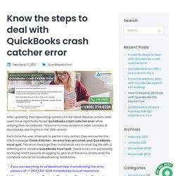Resolve Error QuickBooks Crash Catcher On Mac OS?