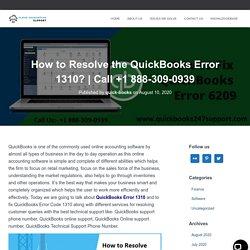 How to Resolve the QuickBooks Error 1310?